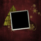 Weinleseweihnachtsalbumseite Lizenzfreie Stockbilder