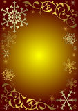 Weinleseweihnachtshintergrund mit Schneeflocken Stockbilder