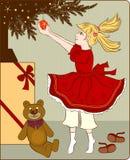 Weinleseweihnachtskarte Stockbild