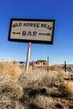 Weinlesezeichen auf altem Route 66 im New Mexiko stockbilder