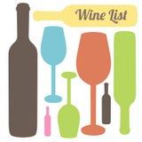 Weinliste stock abbildung