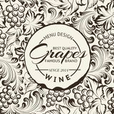 Weinlisten-Entwurf auf Tafel. Vektor Stockfotos