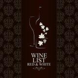 Weinlistenauslegung Stockbilder