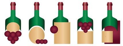 Weinlogo oder -aufkleber Lizenzfreies Stockfoto