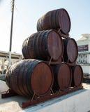 Weinmuseum und Weinstöcke Koutsouyanopoulos, Santorini Stockfotografie