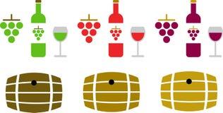 Weinpiktogramme Stockfoto