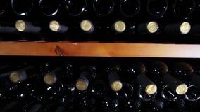 Weinprobe im Weinkeller stock footage