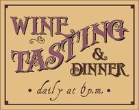 Weinprobe und Abendessen Stockfotografie