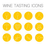 Weinprobeikonen vektor abbildung
