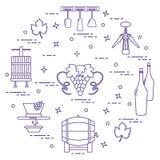 Weinproduktion: die Produktion und die Lagerung des Weins Kultur des Getränks Lizenzfreie Stockbilder