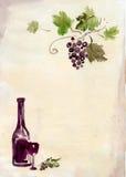 Weinproduktionhintergrund Stockbild