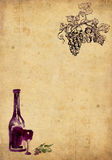 Weinproduktionhintergrund Stockbilder