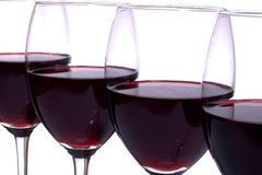 Weinreihe Stockfoto