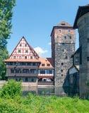 Weinstadel en Wasserturm Stock Afbeeldingen