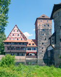 Weinstadel och Wasserturm Arkivbilder
