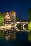 Weinstadl at the river Pegnitz in the old town of Nuremberg, Ger Stock Photography