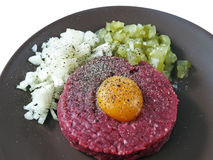 Steak tartare Lizenzfreie Stockfotografie