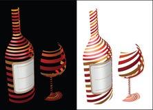 Weinsymbolidee Stockbild
