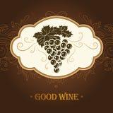 Weintraube für Aufkleber des Weins stock abbildung