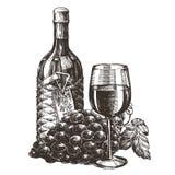 Weinvektorlogo-Designschablone E vektor abbildung