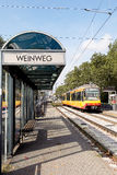 Weinweg - an tram stop in  Karlsruhe Stock Image