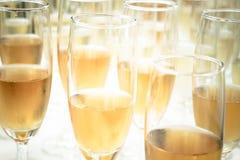 Weinzeit auf der Partei Stockbild