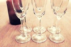 Weinzeit auf der Partei Lizenzfreie Stockbilder
