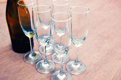 Weinzeit auf der Partei Stockfoto