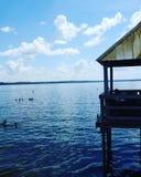 Weir λιμνών στοκ εικόνα με δικαίωμα ελεύθερης χρήσης