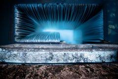 Weir σύσταση λωρίδων νερού άμεσα ανωτέρω Στοκ Φωτογραφία