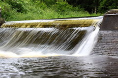 Weir. Photograph of a weir on a river Royalty Free Stock Photos