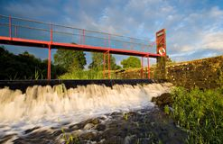 The Weir. Weir and bridge accross River Shannon at Jamestown, Co.Roscommon, Ireland Royalty Free Stock Images