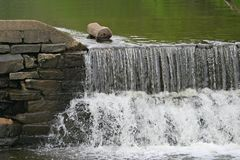 Weir. Near Kingston Mill, Princeton, NJ, USA Royalty Free Stock Photography