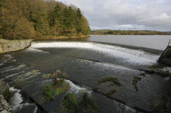 Weir at Blagdon Lake. Somerset Royalty Free Stock Photography