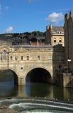 Weir da ponte de Pulteney Fotografia de Stock