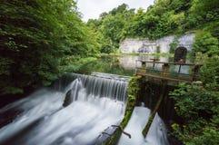 Weir de Cressbrook Imagens de Stock Royalty Free
