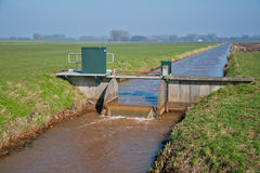 Weir in a ditch Stock Image