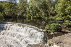 Weir at Etherow Country Park, England Stock Photography