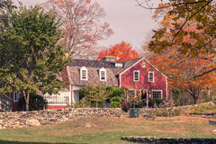 Weir Farm. Toned image of Visitor's Center at Weir Farm, a National Historic Site in Wilton, CT Stock Image