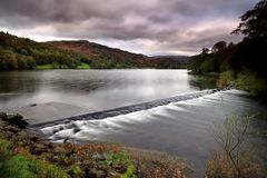 Weir on Grassmere Royalty Free Stock Images