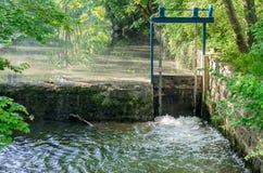 Weir in the Ilm in Weimar. Weir in the Ilm park in Weimar stock photo