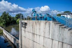 Weir - Low dam - Bayreuth royalty free stock photo