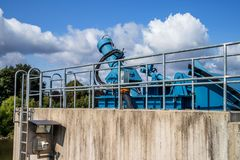 Weir - Low dam - Bayreuth royalty free stock photos