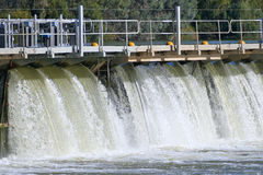 Weir Mildura εναέρια άποψη Στοκ Εικόνα
