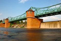 Weir on Odra river Stock Photography