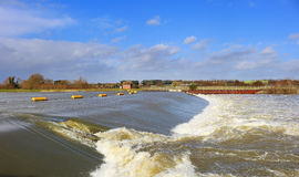 Weir On The Jubilee River In England Royalty Free Stock Image