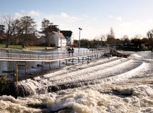 Weir On The River Thames Royalty Free Stock Photos