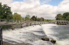 Weir On The River Thames In England Stock Photos