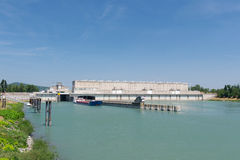 Weir in Rhone in France Stock Images