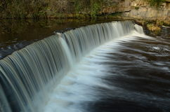 Weir on River Almond Stock Photo
